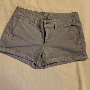Gray mini shorts